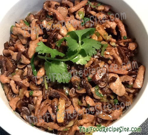Pork with Ginger and Mushrooms